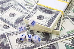 Grand pari pour la fortune. Détruisez ou gagnez ? Images libres de droits