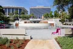 Grand Park in downtown Los Angeles. Grand Park is located in the heart of Los Angeles from the Music Center on the West to City Hall on the East Stock Images