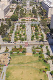 Grand Park at Los Angeles downtown. Aerial view of Grand Park at Los Angeles, California Royalty Free Stock Photos
