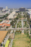 Grand Park at Los Angeles downtown. Los Angeles, AUG 23: Aerial view of Grand Park on AUG 23, 2014 at Los Angeles, California Stock Photography