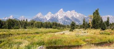 grand parku narodowego teton Wyoming obraz stock