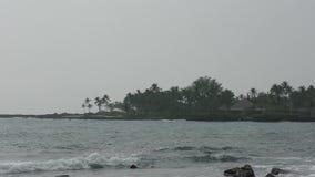 Grand paysage d'île de Kona Hawaï banque de vidéos
