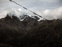 The Grand Peak of the Chulu Himalayas during Monsoon Royalty Free Stock Photos