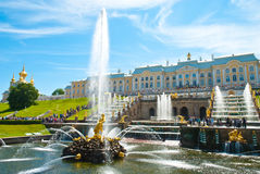 Grand Peterhof Palace Stock Images