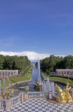 The Grand Peterhof Palace and Grand Cascade in St. Petersburg, Russia. The Famous Grand Peterhof Palace and Grand Cascade in St. Petersburg, Russia royalty free stock images