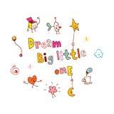 Grand petit le rêveur illustration stock