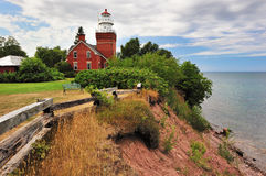 Grand phare de point de compartiment - grand compartiment, Michigan Image libre de droits