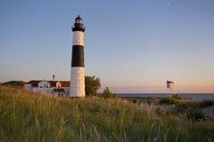 Grand phare de point de sable. Photographie stock