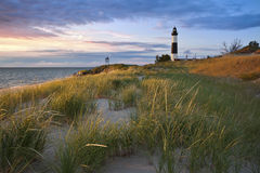 Grand phare de point de sable.