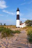 Grand phare de point de sable Images libres de droits