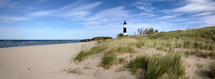 Grand phare de point de sable Photos stock