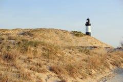 Grand phare de point de sable en dunes, construites en 1867 Images libres de droits