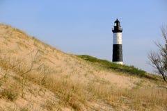 Grand phare de point de sable en dunes, construites en 1867 Photos libres de droits