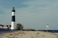 Grand phare de point de sable en dunes, construites en 1867 Photographie stock libre de droits