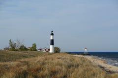 Grand phare de point de sable en dunes, construites en 1867 Photos stock