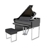 Grand Pianio isolated on white. 3d illustration Stock Image