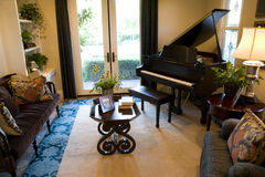 Grand piano 1850. Grand piano in a luxury home music room Stock Images