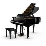 Grand Piano. 3D rendered piano on white background Royalty Free Stock Image
