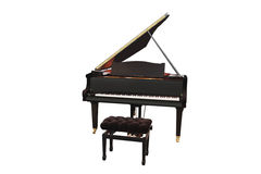 Grand piano. The image of grand piano under the white background royalty free stock photography