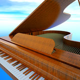 Grand piano Stock Photography