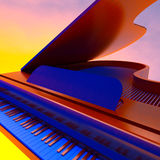 Grand piano Royalty Free Stock Photography