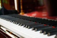 Grand piano. With ebony and ivory keys royalty free stock image