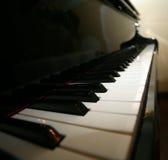 Grand piano. Ebony and ivory keys stock image