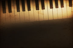 Grand piano. Old historical keyboard of a grand piano Royalty Free Stock Photo