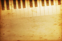 Grand piano. Old historical keyboard of a grand piano Royalty Free Stock Photos