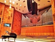 Grand piano at concert hall Stock Photo