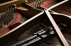 Grand piano close-up Royalty Free Stock Photo