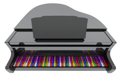 Grand piano with color keys Stock Photo
