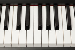 Grand piano ebony and ivory keys Royalty Free Stock Image