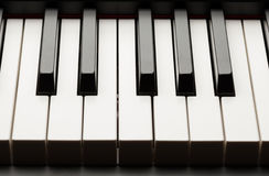 Grand piano ebony and ivory keys Royalty Free Stock Images