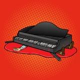 Grand piano fell on man pop art vector Royalty Free Stock Photography