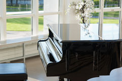 Grand piano in the hall Royalty Free Stock Image