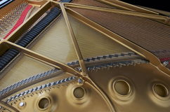 Grand Piano. Image depicts the interior of a grand piano royalty free stock image