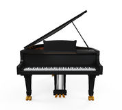 Grand Piano Isolated. On white background. 3D render Royalty Free Stock Photography