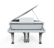 Grand Piano Isolated. On white background. 3D render Stock Photo