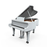 Grand Piano Isolated. On white background. 3D render Royalty Free Stock Photo