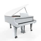 Grand Piano Isolated. On white background. 3D render Royalty Free Stock Photos