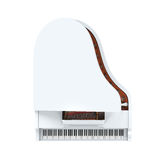 Grand Piano Isolated. On white background. 3D render Royalty Free Stock Image