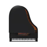 Grand Piano Isolated. On white background. 3D render Stock Image