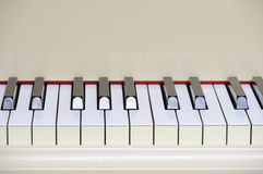 Grand piano keyboard Royalty Free Stock Photo