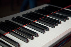 Grand piano keyboard close up Stock Photo
