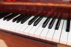 Grand piano keyboard stock images
