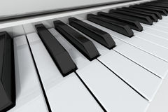 Grand Piano keys. On light background. Close-up view Royalty Free Stock Photo