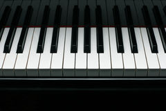 Grand piano keys Stock Photos