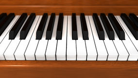 Grand piano keys Royalty Free Stock Images