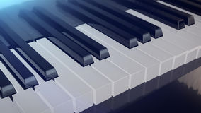 Grand Piano Keys Royalty Free Stock Image